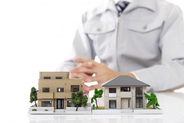 業者と家模型